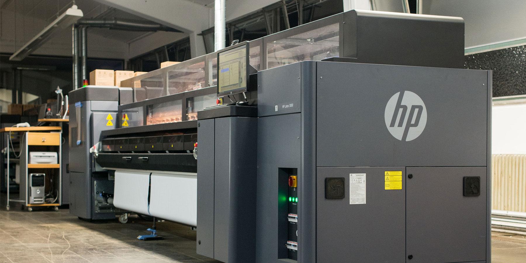 Plakatdruck, Druckmaschine