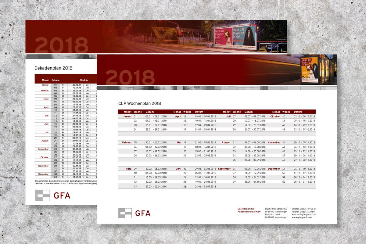 Dekaden und CLP-Wochenplan 2018